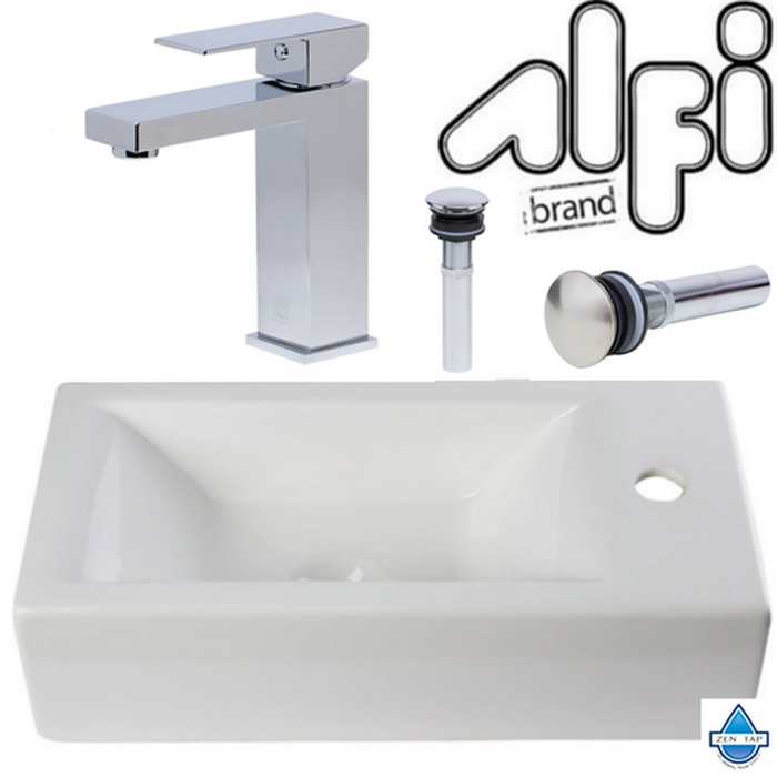 Alfi AB108 Wall Mounted Bathroom Sink Set