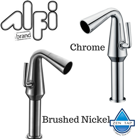 ALFI brand AB1792 Single Hole Tall Cone Waterfall Bathroom Faucet