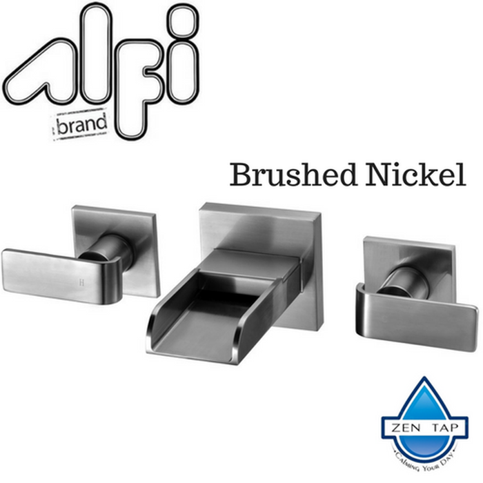 ALFI brand AB1796 Widespread Wall Mounted Modern Waterfall Bathroom Faucet