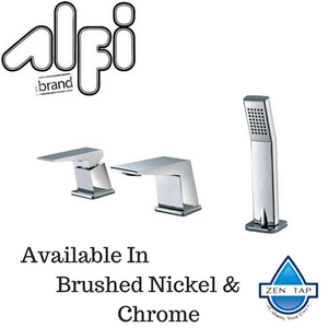 ALFI brand AB2464 Deck Mounted Three Hole Bathroom Tub Filler & Shower