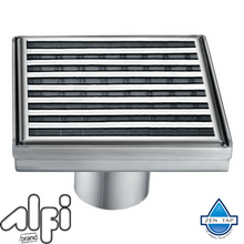 "ALFI brand ABSD55 5"" x 5"" Modern Square Stainless Steel Shower Drain"