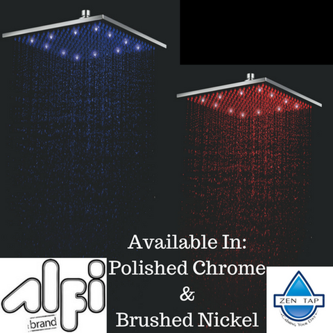 ALFI brand LED12S 12 Inch Square Multi Color LED Rain Shower Head