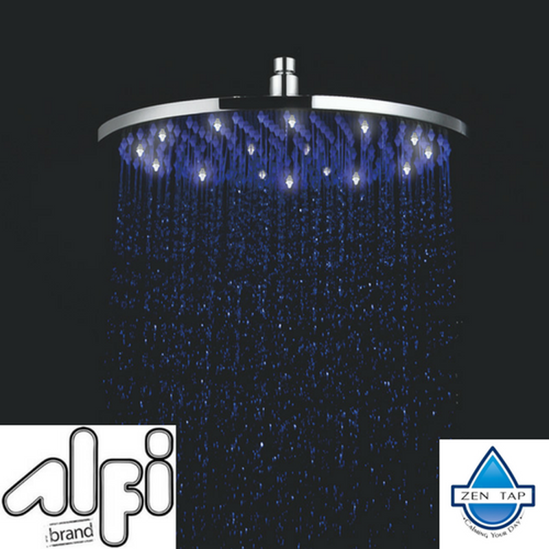 ALFI brand LED16R 16 Inch Round Multi Color LED Rain Shower Head ...