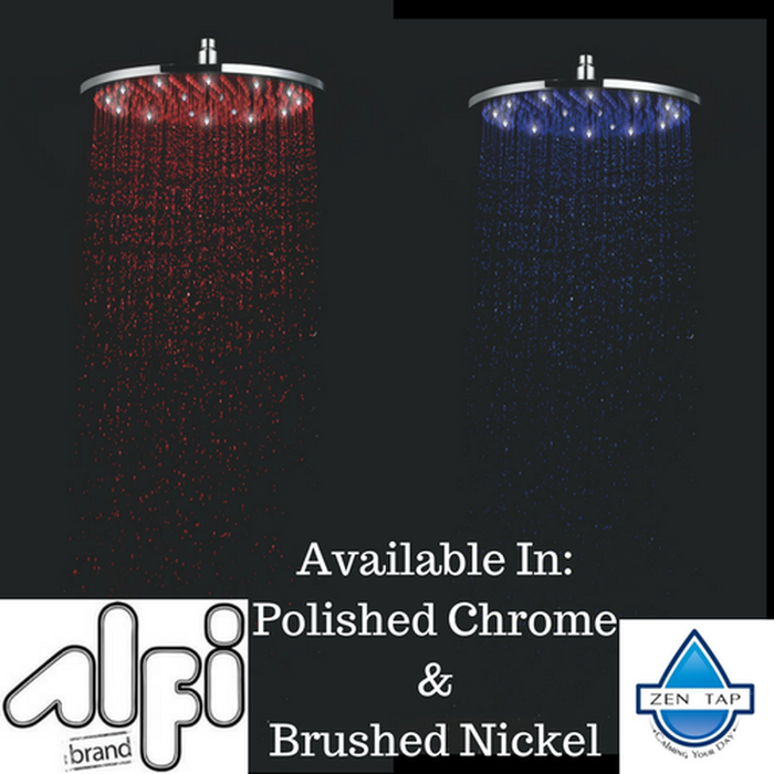 ALFI brand LED16R 16 Inch Round Multi Color LED Rain Shower Head