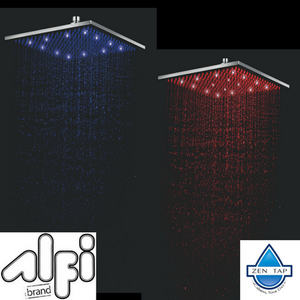 ALFI brand LED16S 16 Inch Square Multi Color LED Rain Shower Head