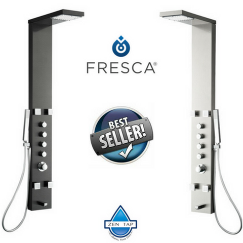 Fresca Verona Stainless Steel Thermostatic Shower Massage Panel