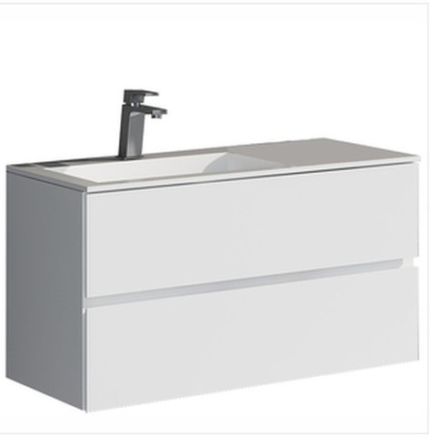 Buy Control Brand-The Werner True Solid Surface Sink And Cabinet [BW4192WHT] - Zen Tap Sinks