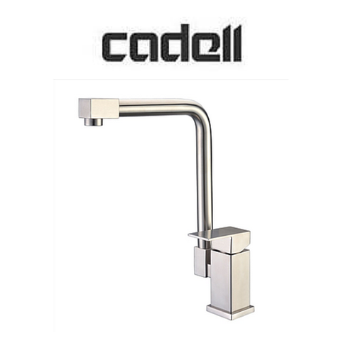 Deck Mounted Brushed Stainless Steel 1 Handle Kitchen Faucet