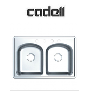 Cadell Topmount Double Bowl Stainless Steel Kitchen Sink