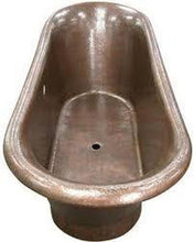 Buy Copper Factory CF167AN 72'' Double Slipper Copper Bath Tub With Base - Zen Tap Sinks - 1