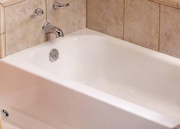 BUY BOOTZCAST™ BATHTUB, PORCELAIN ON STEEL, LEFT-HAND OUTLET, WHITE, 5 FT. - Zen Tap Sinks