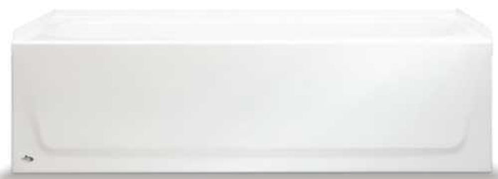 BOOTZ INDUSTRIES® STEEL BATHTUB WITH RIGHT-HAND DRAIN AND ABOVE-FLOOR ROUGH, 60 IN., WHITE