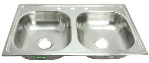 PROPLUS® 3-HOLE DOUBLE BOWL KITCHEN SINK