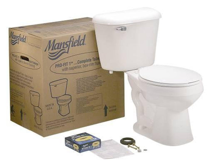 MANSFIELD PRO-FIT 2 COMPLETE ELONGATED TOILET KIT