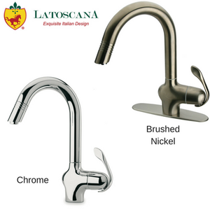 Latoscana Donatello Single Handle Pull-Out Kitchen Faucet, Stream Only