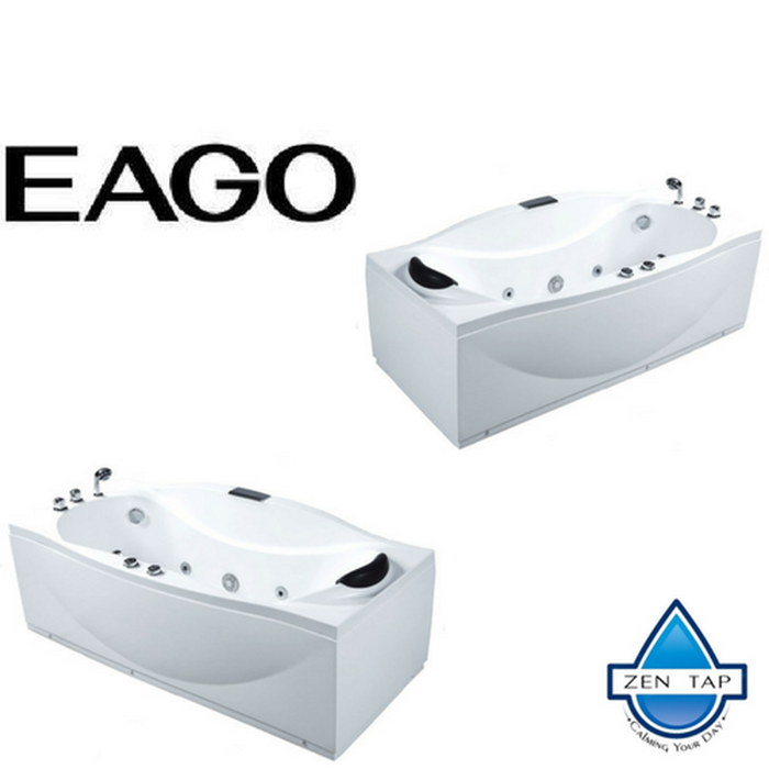 EAGO AM189 6' Whirlpool Jetted Bathtub In White
