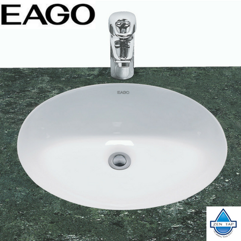 "EAGO BC224 White Ceramic 18""x15"" Undermount Oval Bathroom Sink"