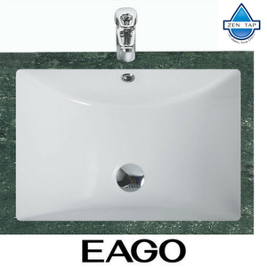 "EAGO BC302 White Ceramic 22""x15"" Undermount Rectangular Bathroom Sink"