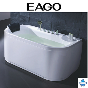 EAGO LK1103 White 5' Acrylic Soaking Tub with FREE Fixtures With Left or Right Drain