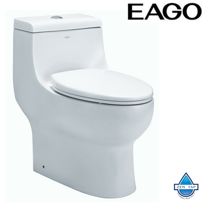 EAGO TB358 Dual Flush One Piece Elongated Ceramic Toilet