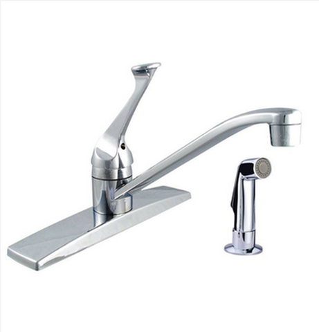 "Buy Single Handle 6-1/3"" H Spout Kitchen Faucet with Side Spray - Zen Tap Sinks"