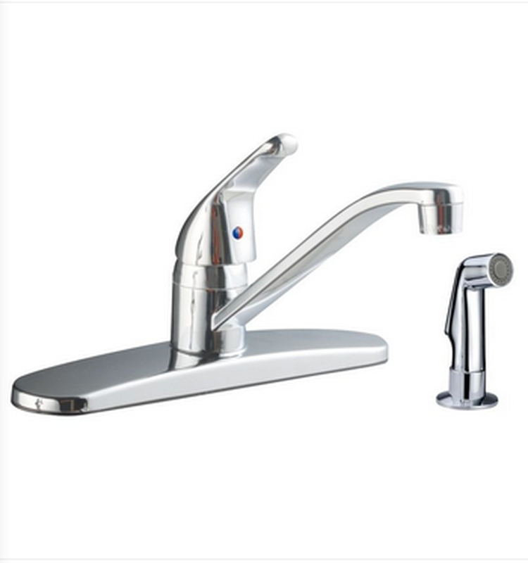 Buy Solid Brass Single Handle Kitchen Faucet with Side Spray - Zen Tap Sinks