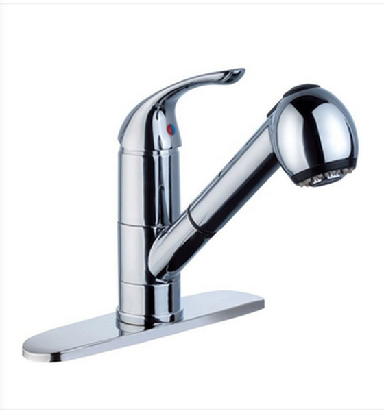 Buy Deck Mounted One Lever Handle Kitchen Faucet with Pull Out - Zen Tap Sinks