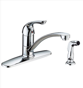 "Buy Single Handle 7-3/4"" H Spout Kitchen Faucet with Side Spray - Zen Tap Sinks"