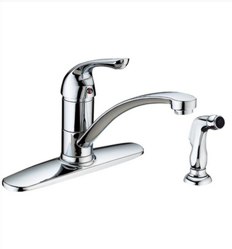 Buy Online Side Spray Single Handle Kitchen Faucet with 5-3/5