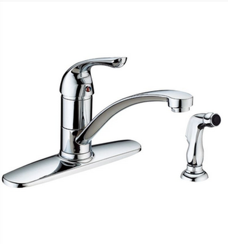 "Buy Online Side Spray Single Handle Kitchen Faucet with 5-3/5"" H Spout - Zen Tap Sinks"
