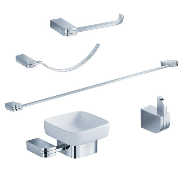 Fresca Solido 5-Piece Bathroom Accessory Set