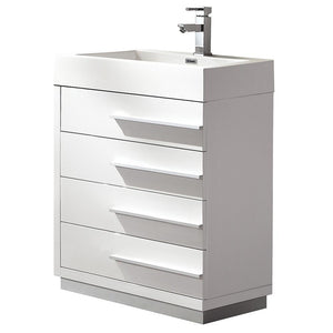 "Fresca Livello 24"" Modern Bathroom Cabinet w/ Integrated Sink"