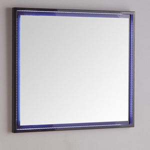 "Fresca Platinum Due 36"" Glossy Bathroom LED Mirror"