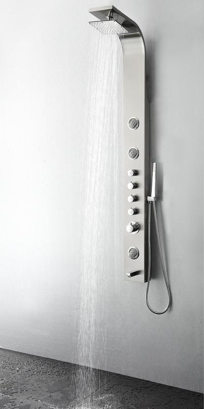 Fresca Geona Stainless Steel Brushed Silver Thermostatic