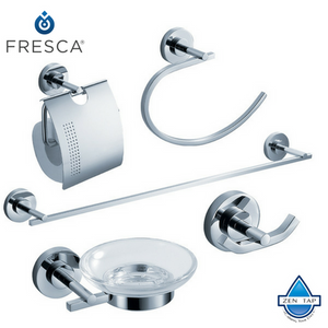 Fresca Alzato 5-Piece Bathroom Accessory Set - Chrome