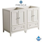 "Fresca Oxford 48"" Traditional Double Sink Bathroom Cabinets"