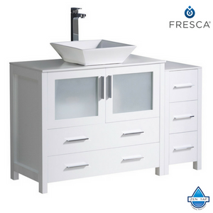 "Fresca Torino 48"" Modern Bathroom Cabinets w/ Top & Sink"