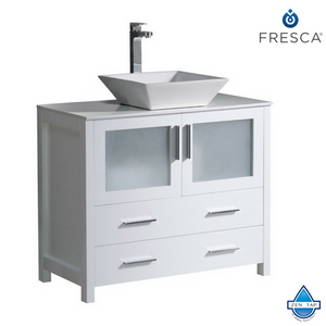 "Fresca Torino 36"" Modern Bathroom Cabinet w/ Vessel or Integrated Sink"