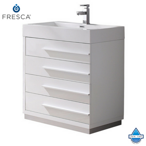 "Fresca Livello 30"" Modern Bathroom Cabinet w/ Integrated Sink"