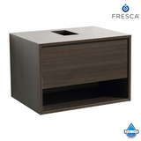 Fresca Potenza Gray Oak Modern Bathroom Cabinet