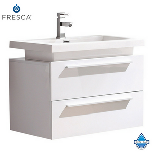 Fresca Medio Modern Bathroom Cabinet w/ Vessel Sink