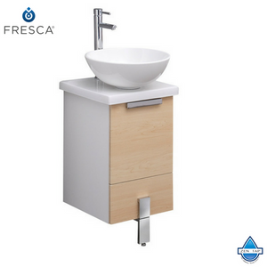 "Fresca Adour 16"" Modern Bathroom Cabinet w/ Top & Vessel Sink"