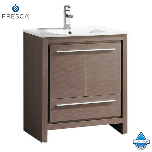 "Fresca Allier 30"" Modern Bathroom Cabinet w/ Sink"