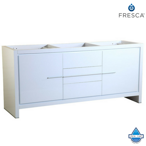 "Fresca Allier 72"" Modern Double Sink Bathroom Cabinet"