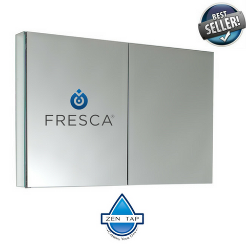 "Fresca 40"" Wide Bathroom Medicine Cabinet w/ Mirrors"