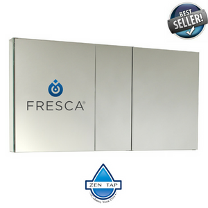"Fresca 50"" Wide Bathroom Medicine Cabinet w/ Mirrors"