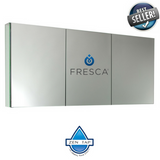"Fresca 60"" Wide Bathroom Medicine Cabinet w/ Mirrors"