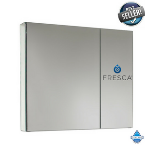 "Fresca 30"" Wide Bathroom Medicine Cabinet w/ Mirrors"