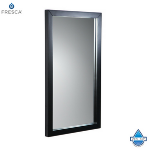"Fresca Brilliante 17"" Espresso Mirror"