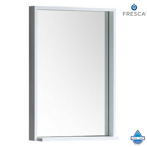 "Fresca Allier 22"" Mirror with Shelf"